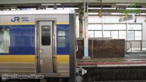 キハ187系の断面 松江駅