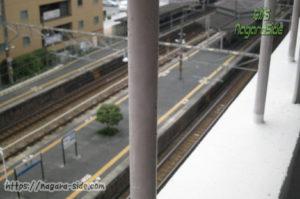 相生駅新幹線ホームから望む在来線ホーム