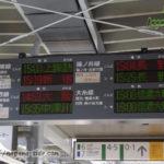 松本駅発車標 大阪しなの時代