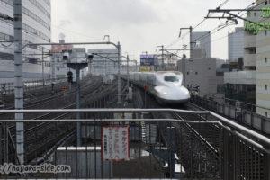 名古屋駅 東海道新幹線上り入線