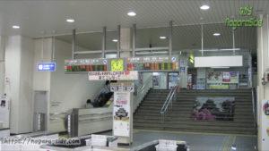 松江駅 自動改札導入前