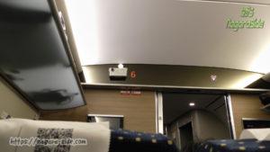 中国高速鉄道の車内監視カメラ