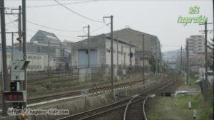 後藤駅から望む後藤総合車両所