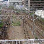 西明石駅から望む複々線の終わり