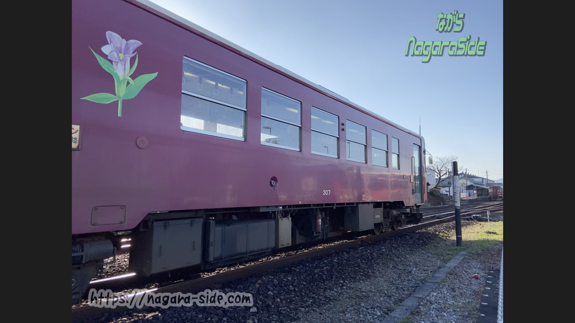 関駅を出発するナガラ3形