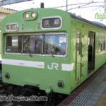 奈良駅に停車する103系