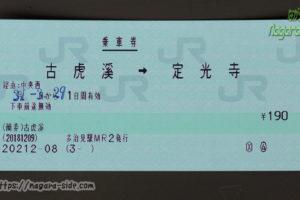 古虎渓駅の常備券