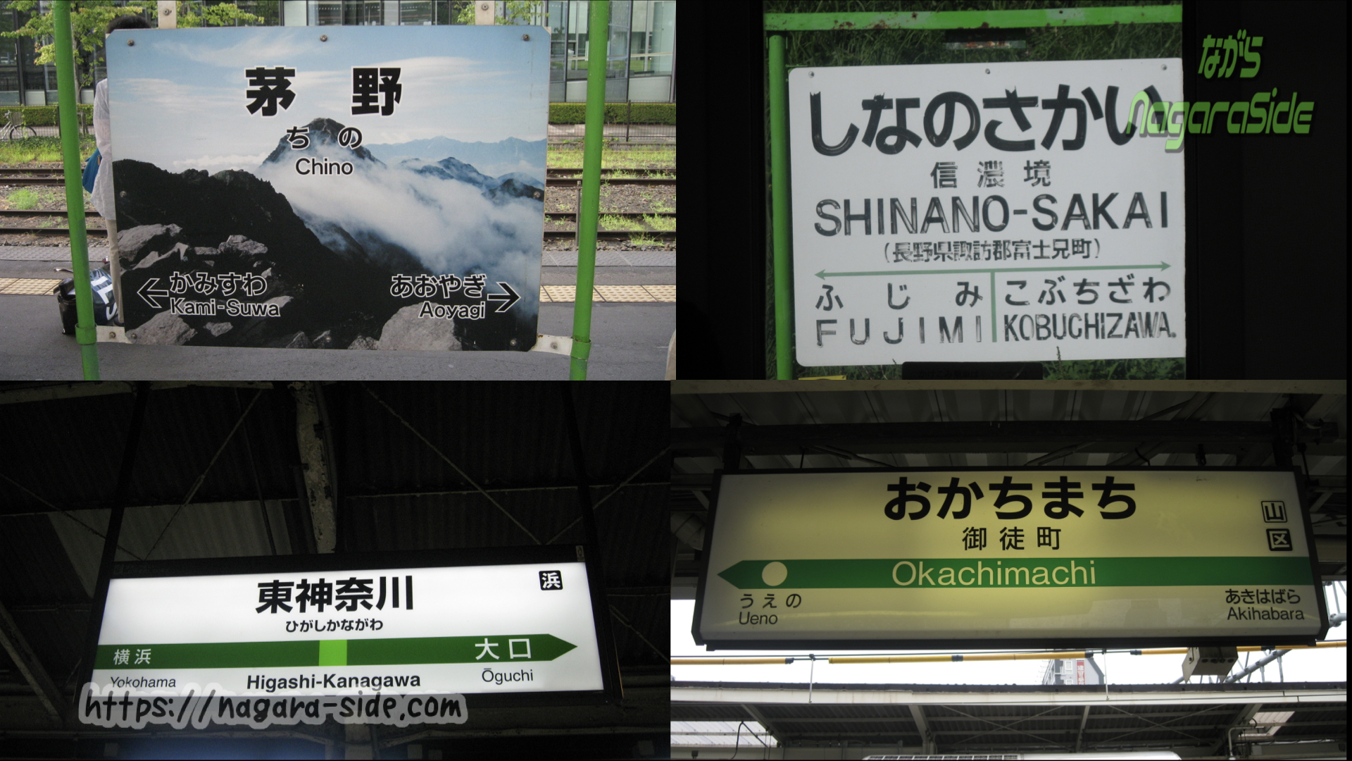 JR東日本の駅名標