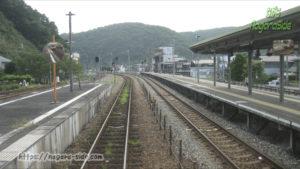 姫新線と智頭急行線の交点、佐用駅
