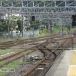 中津川駅から木曽方面を望む