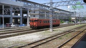 徳山駅で留置されるキハ40