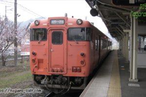 浜坂駅に停車するキハ47