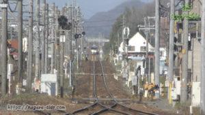 鵜沼駅から岐阜方面を望む