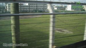 東海道新幹線上り線から見える西濃運輸野球場