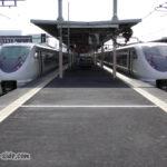 福知山駅で対面乗り換えをする特急