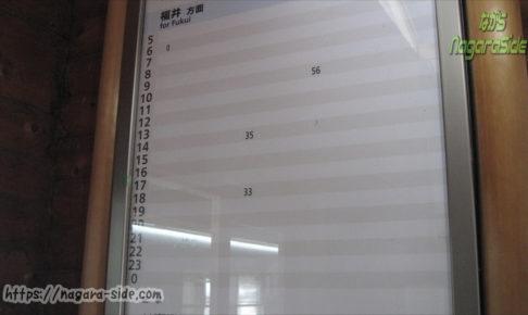九頭竜湖駅の時刻表 1日僅か5本