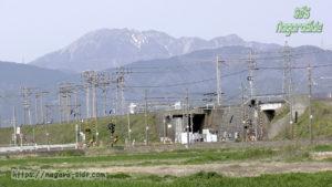 南荒尾信号場と伊吹山