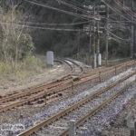 古虎渓駅南にある中央本線旧線跡