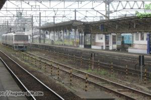 新宮駅で送り込み回送を待つキハ85系