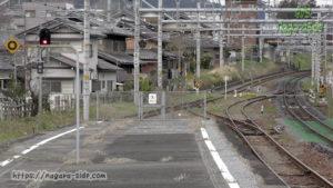垂井駅から関ヶ原方面を望む。左が垂井線