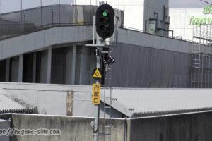 梅小路京都西駅から見える第一閉塞信号