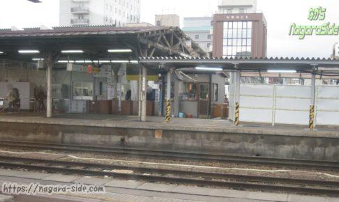 橋上駅舎工事前の高山本線高山駅
