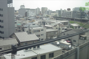 山陽新幹線から望む阪急宝塚線