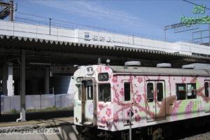 桜井駅に停車する在りし日の105系