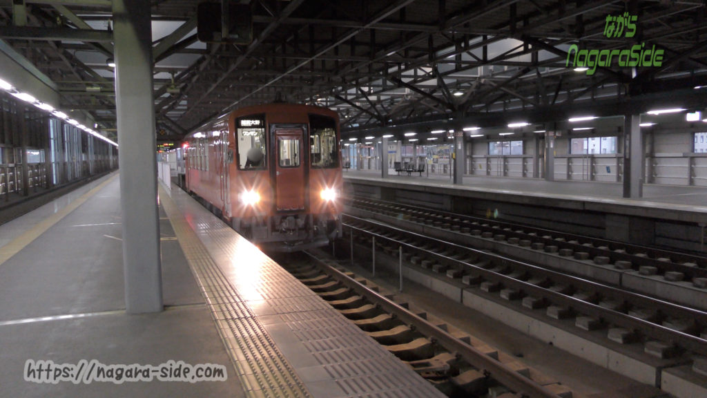 越美北線の気動車が発着する専用ホーム(福井駅)