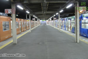 夜の桜島駅