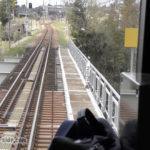高山本線200キロのキロポスト。神通川を渡ると笹津駅