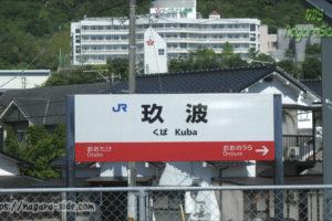 山陽本線玖波駅駅名標