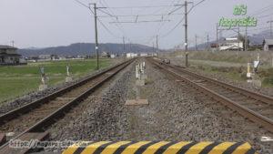 南荒尾信号場 御首踏切より見る東海道下り本線と垂井線