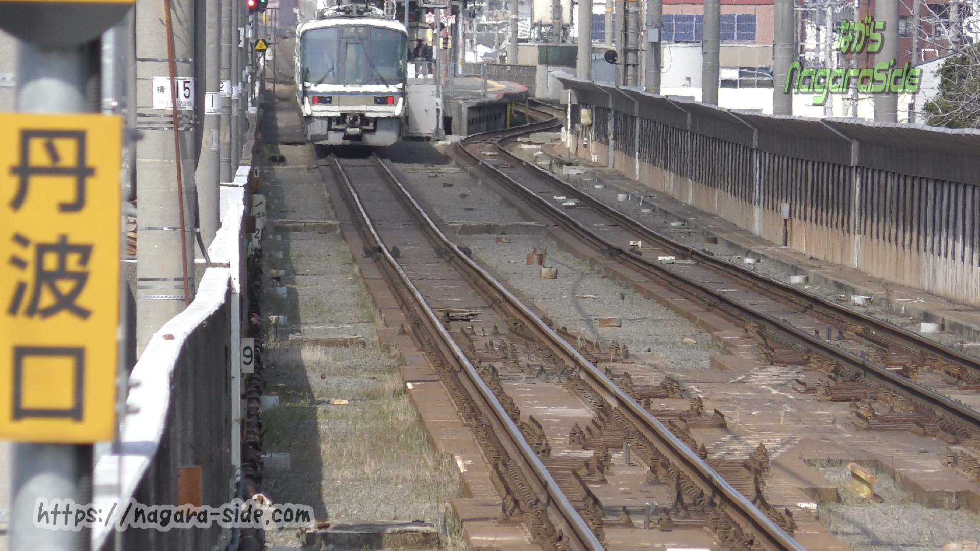 梅小路京都西駅から望む丹波口駅と渡り線跡
