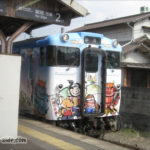 大安寺駅に停車するキハ40