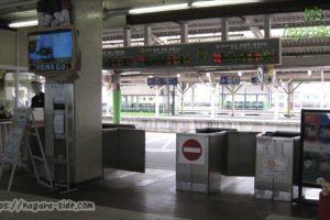 米子駅の改札(自動化前)