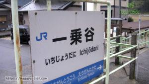 一乗谷駅の駅名標