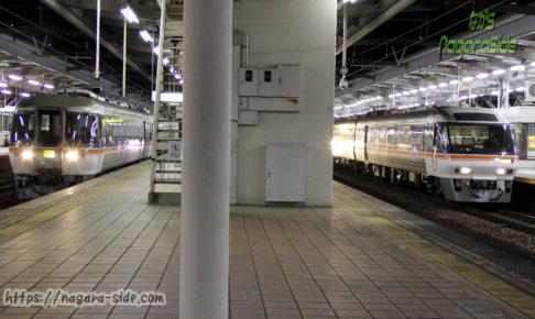 岐阜駅を発車する上下の「ひだ」