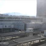 ホテルから望む広島駅