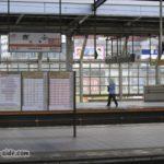 ガランとした岐阜駅のホーム