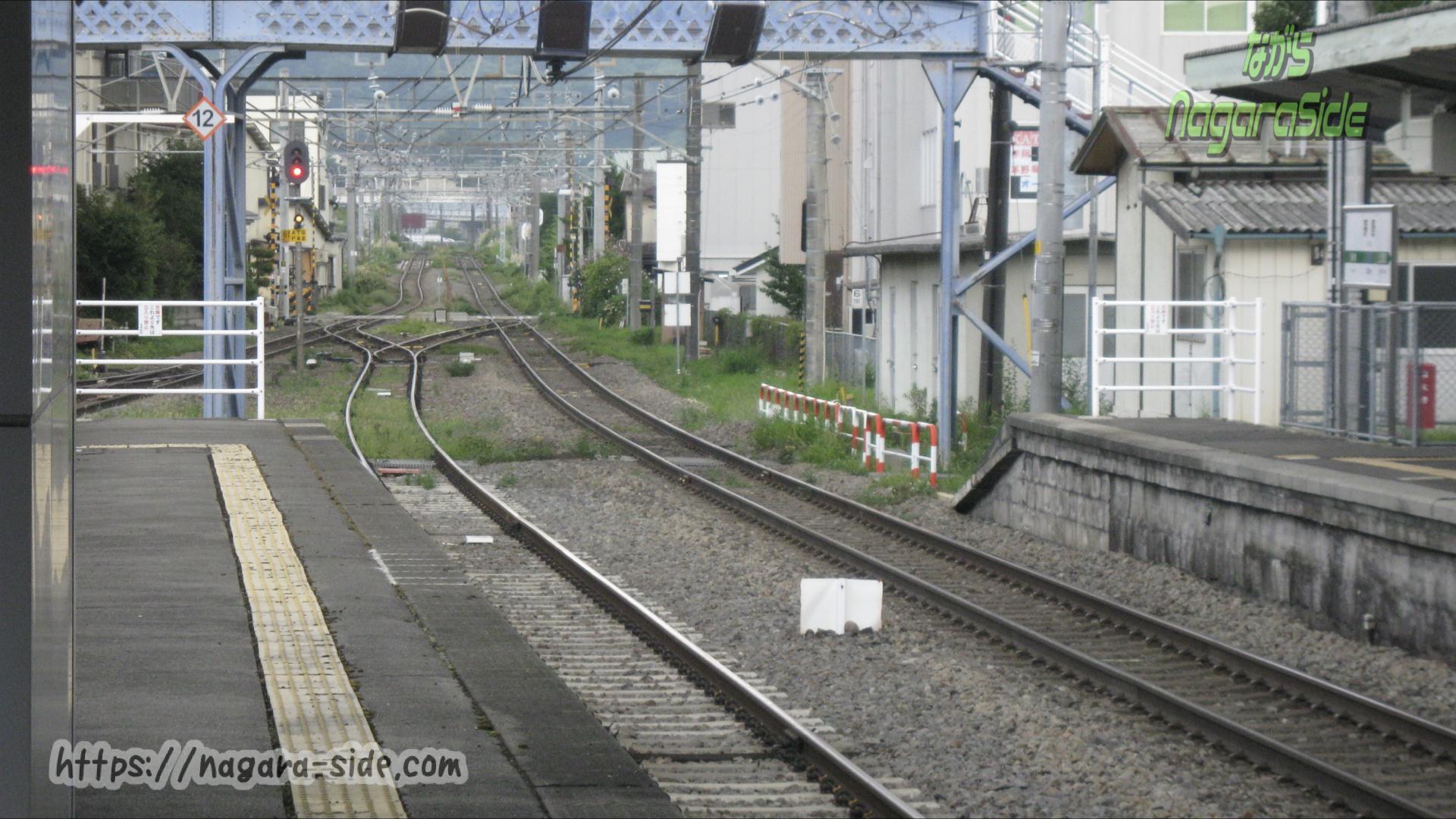 中央本線茅野駅から東京方面を望む