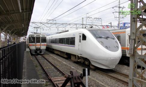 大垣駅に進入するしらさぎ