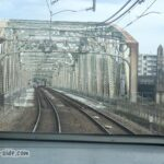 列車内から見る犬山橋