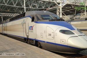 ソウル駅に停車するKTX