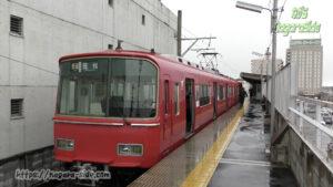 屋根が短い新羽島駅