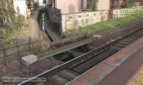 太多線下切駅にある可児市と多治見市の境界