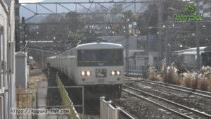 小田原駅に進入する185系踊り子