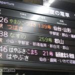 多様な行き先があるJR東日本の新幹線