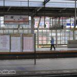 岐阜駅のホーム 時刻表が掲げられていたが今では消滅…