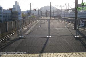 使われず立入禁止になっている三原駅のホーム